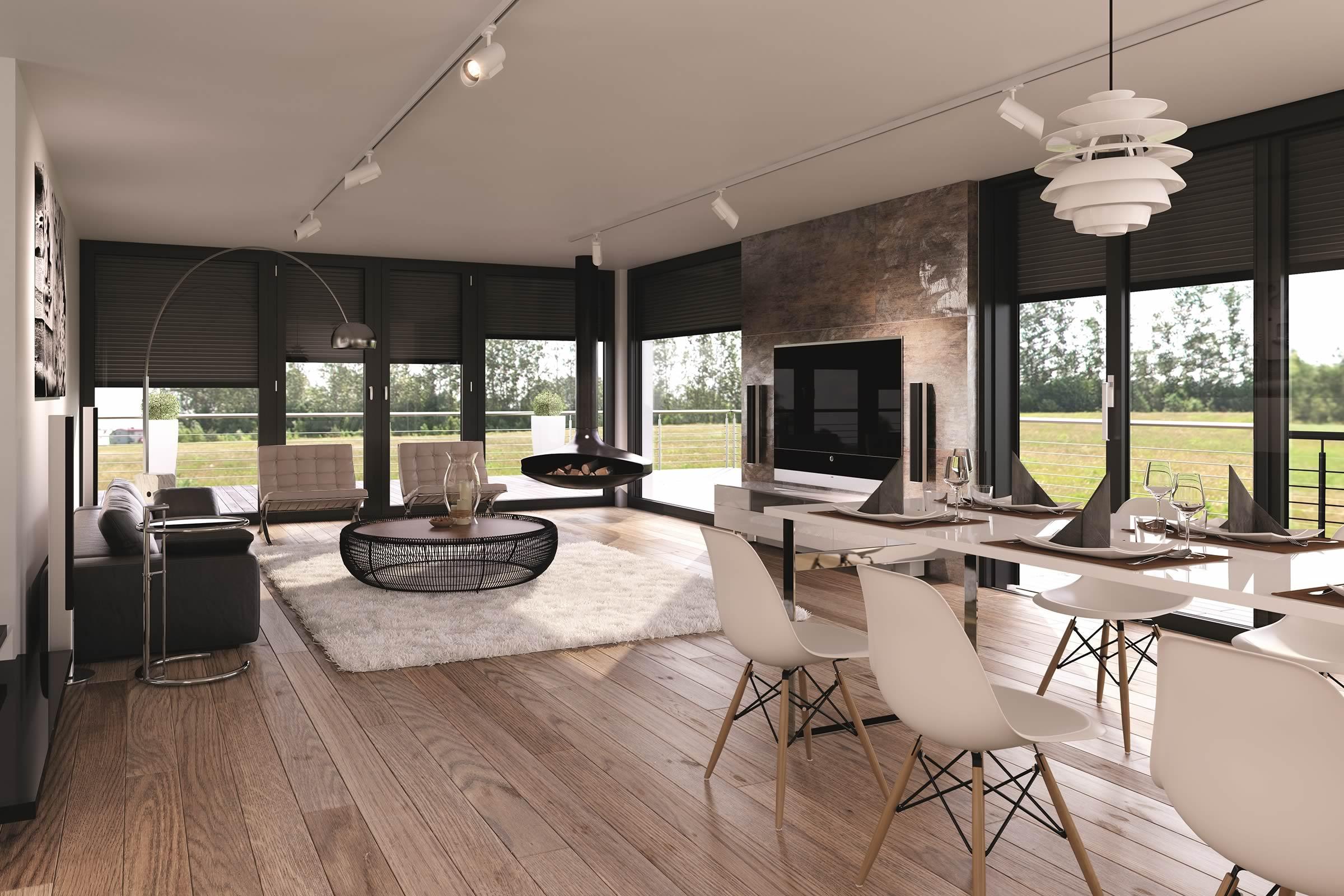 heroal Architektenhaus innen Rollläden